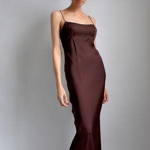 GUCCI 100% SILK Spaghetti Minimal Slip Maxi Gown